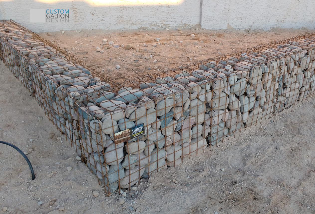 Gabion baskets and gabion wall design we create beautiful landscape gabion retaining wall for front garden solutioingenieria Gallery