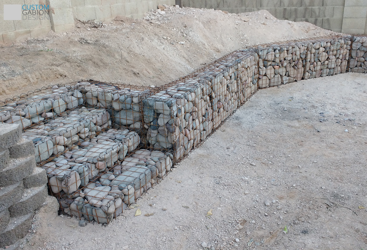 Gabion baskets and gabion wall design we create beautiful landscape gabion backyard garden retaining wall with stairs solutioingenieria Images