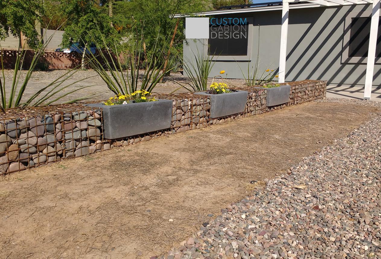 Gabion baskets and gabion wall design we create beautiful landscape gabion retaining wall with planters solutioingenieria Gallery